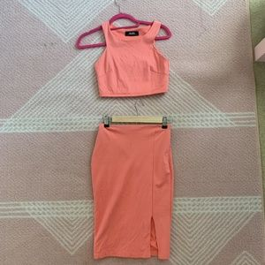 LuLu's Coral pink two piece set